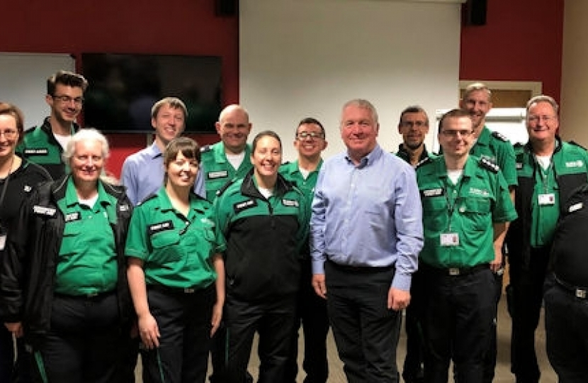 Rt Hon Sir Mike Penning visiting St John Ambulance