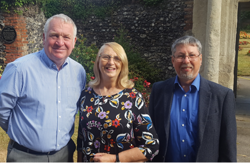 Rob Beauchamp, Frances Arslan with Sir Mike Penning MP