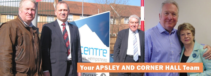 Mike Penning MP with Apsley and Corner Hall Councillors