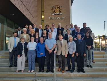 Councillors outside The Forum